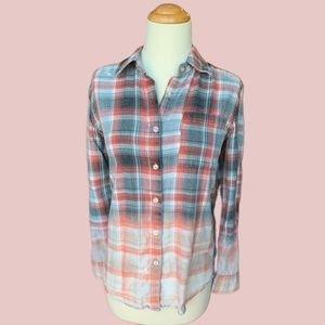 Urban Outfitters Dip Dyed Flannel Shirt